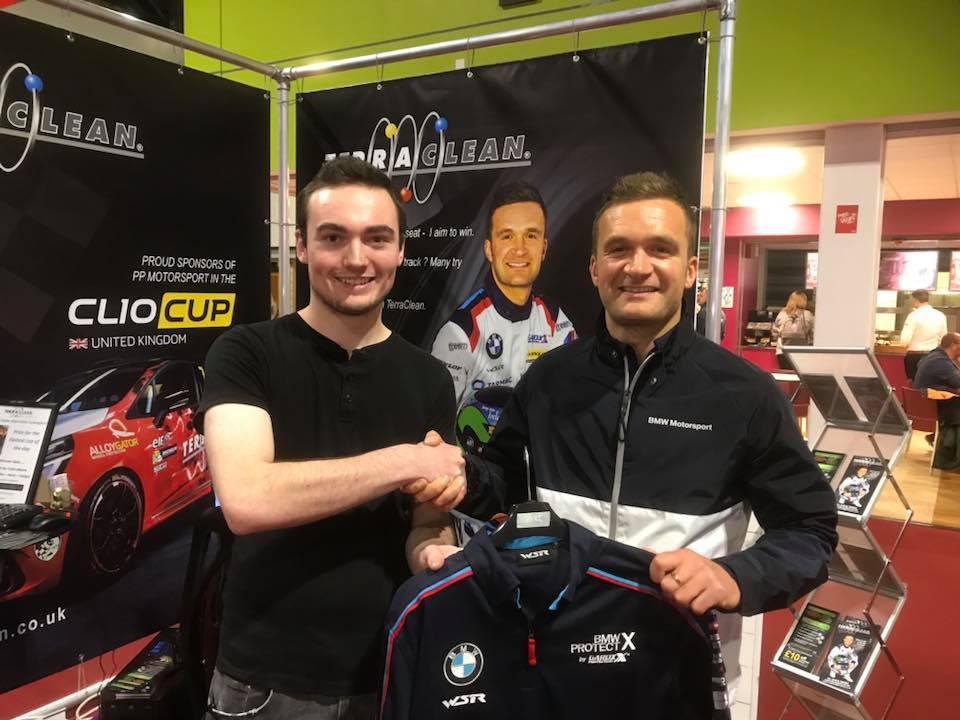 Colin Turkington with a fan